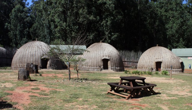 Beehive Huts - Exterior view